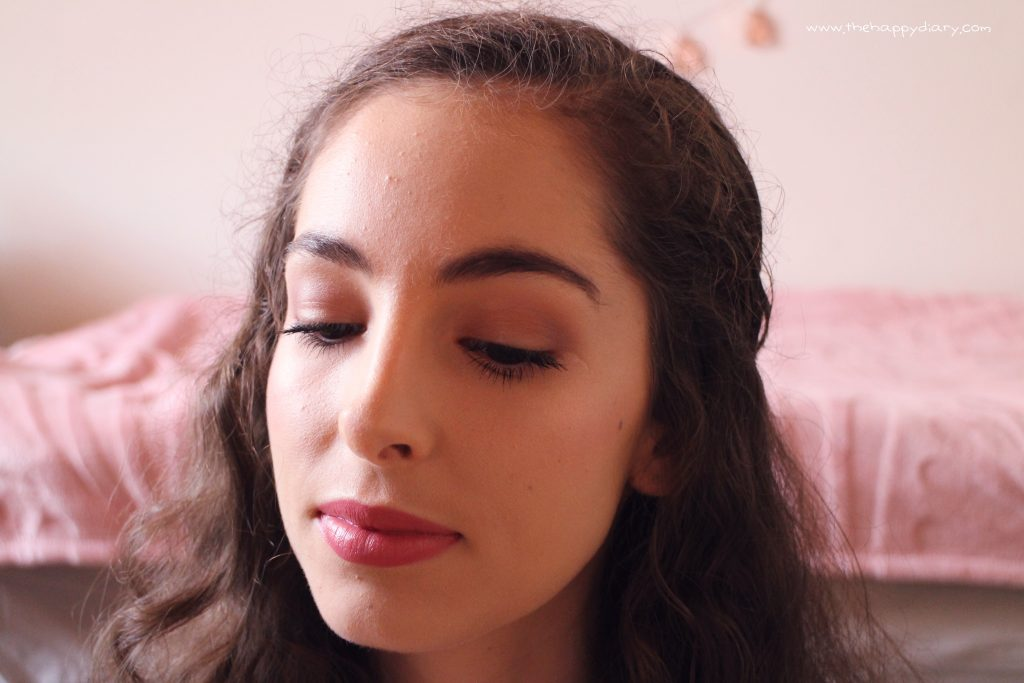 Dusty rose makeup look