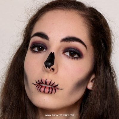 Simple Halloween Skull Makeup