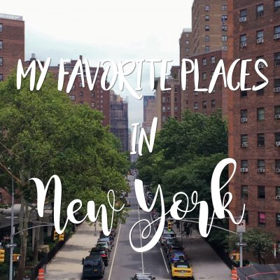 My Favorite Places In New York