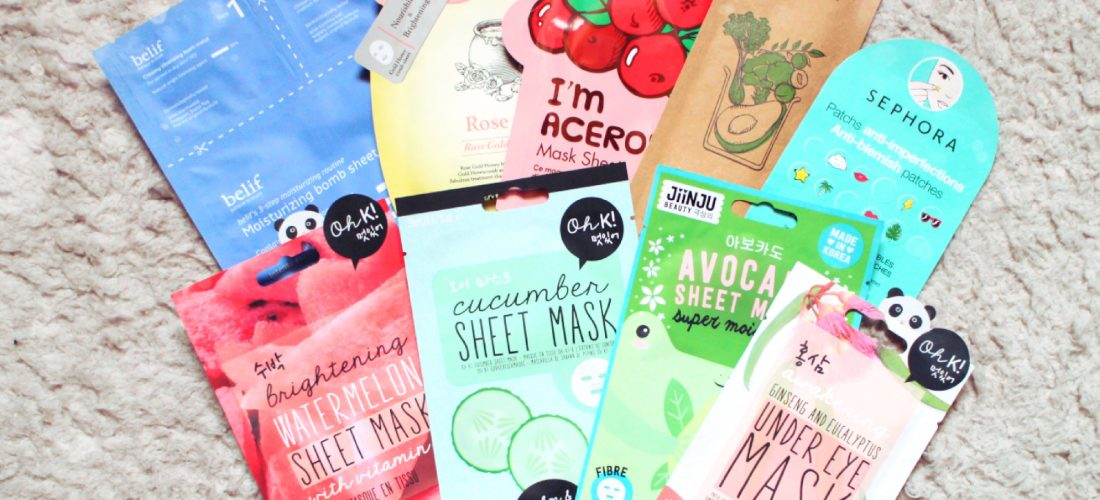 Testing out a bunch of new Sheet Masks!