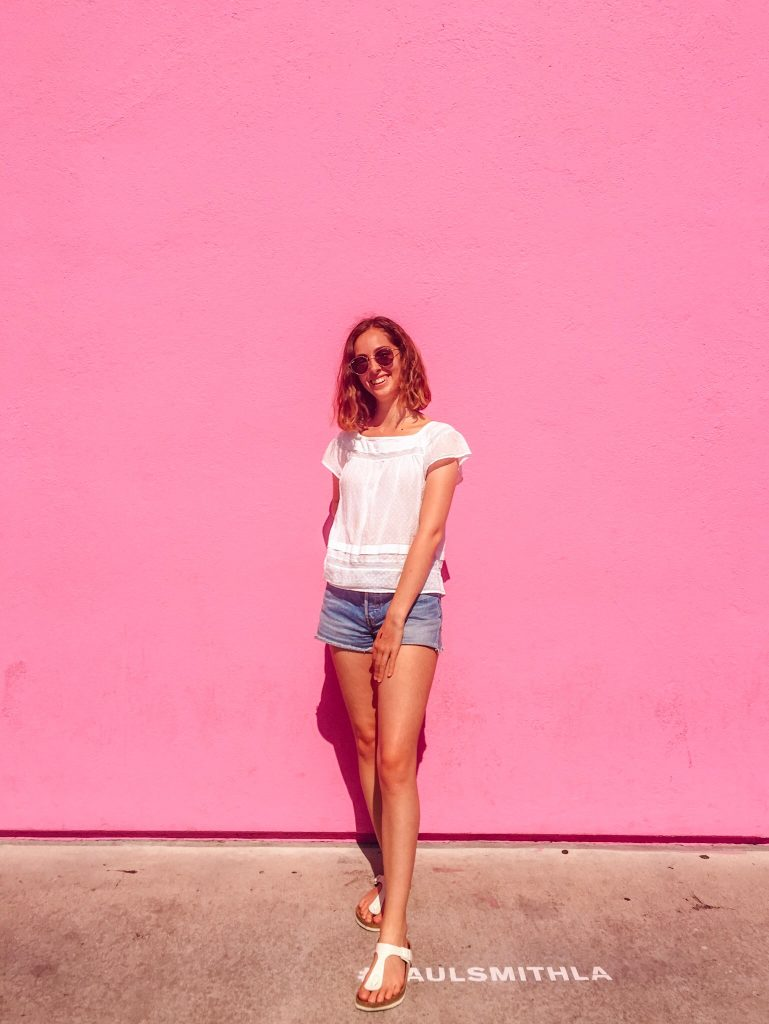 Los Angeles Pink Wall Paul Smith