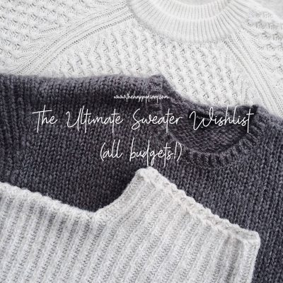 Sweater wishlist