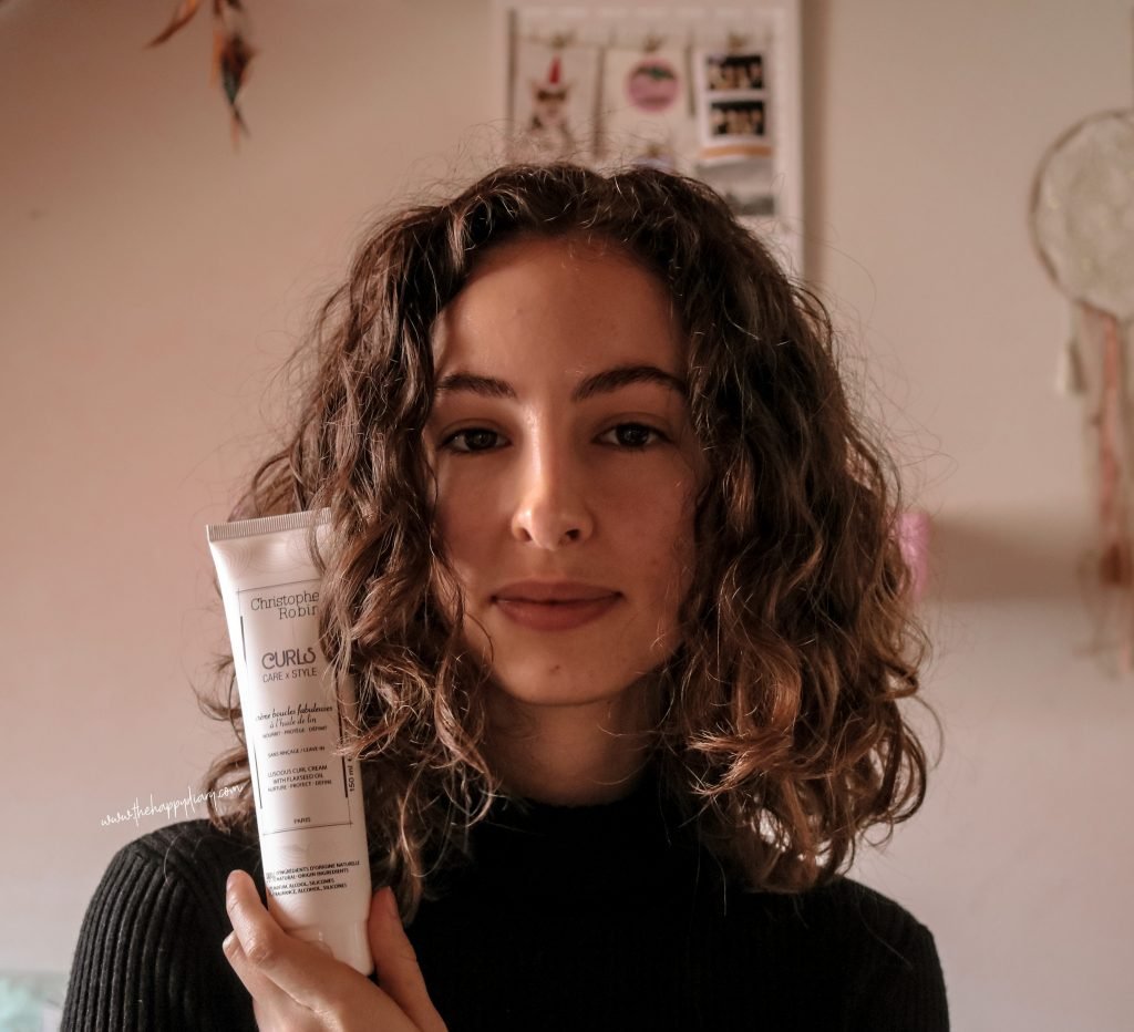 how I style my curly hair